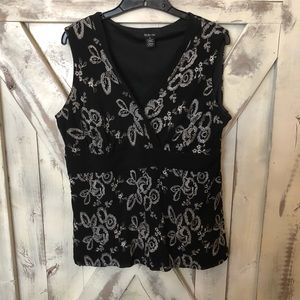 Style & co sleeveless embroidered shell top